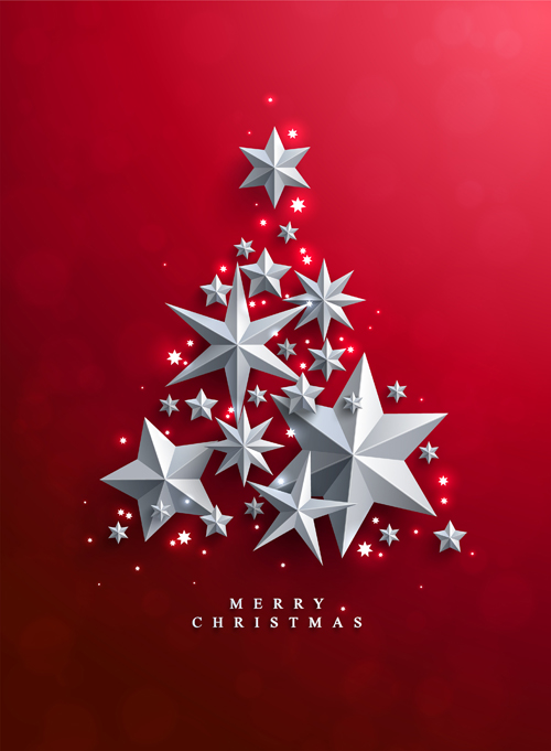 1-red-christmas-backgroung-with-paper-stars-vector-03